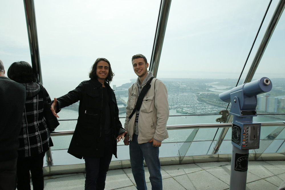 Felipe and I at the top