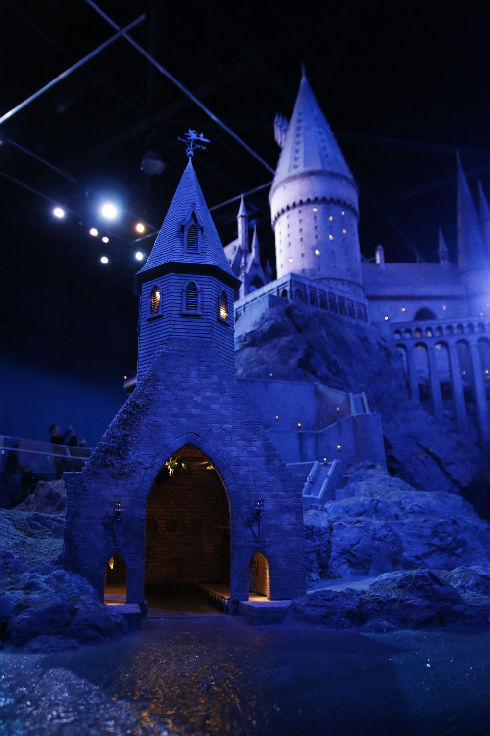 They also show what the castle looks like at night, with hundreds of real working lights wired inside.