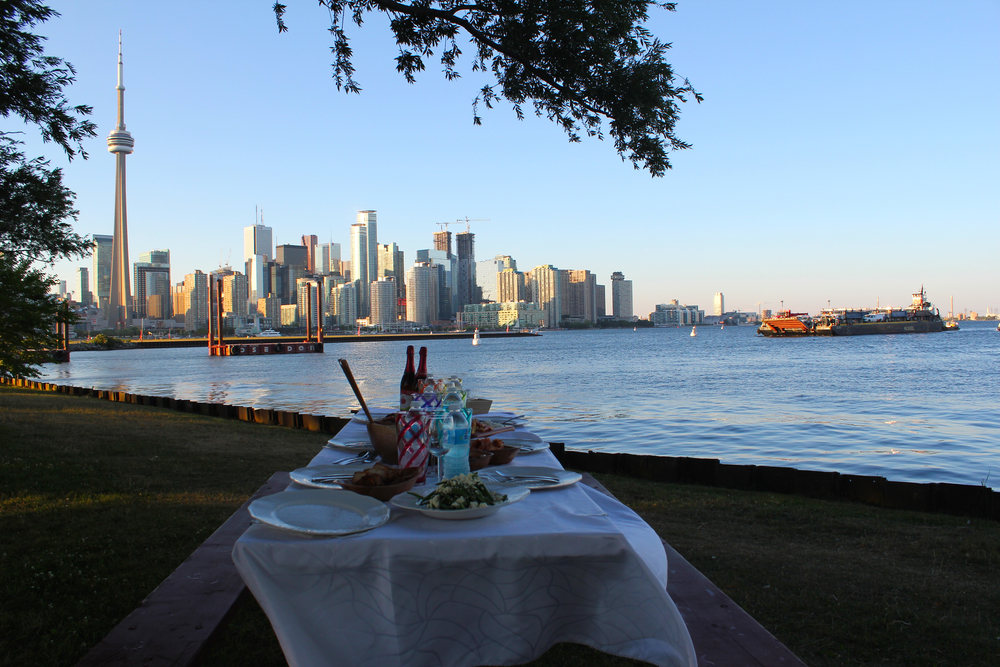 Culinary Adventure Co—picnic with a lovely view of the Toronto skyline