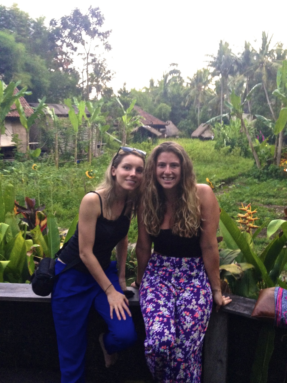 "Right before ""ecstatic dance"" at the Yoga Barn in Ubud, with my new friend Sabine. The dancing in the Bali humidity was sweaty, hot, invigorating, and just what I needed that day... thanks Bee!"