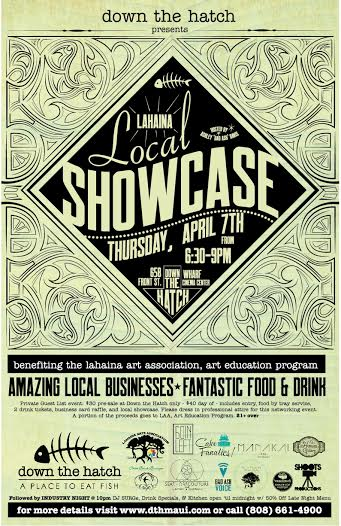 Lahaina Local Showcase Flyer