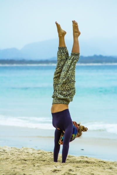 Handstanding in Byron Bay, Australia... Photo by Jaz Morton.