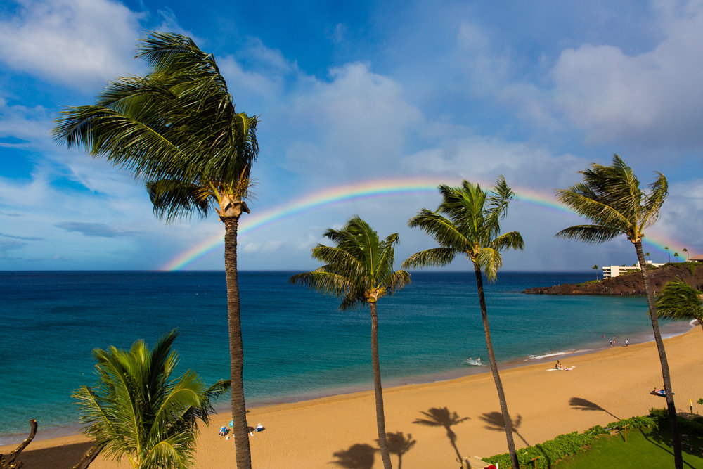 Rainbow over Black Rock, Ka'anapali Beach, Maui