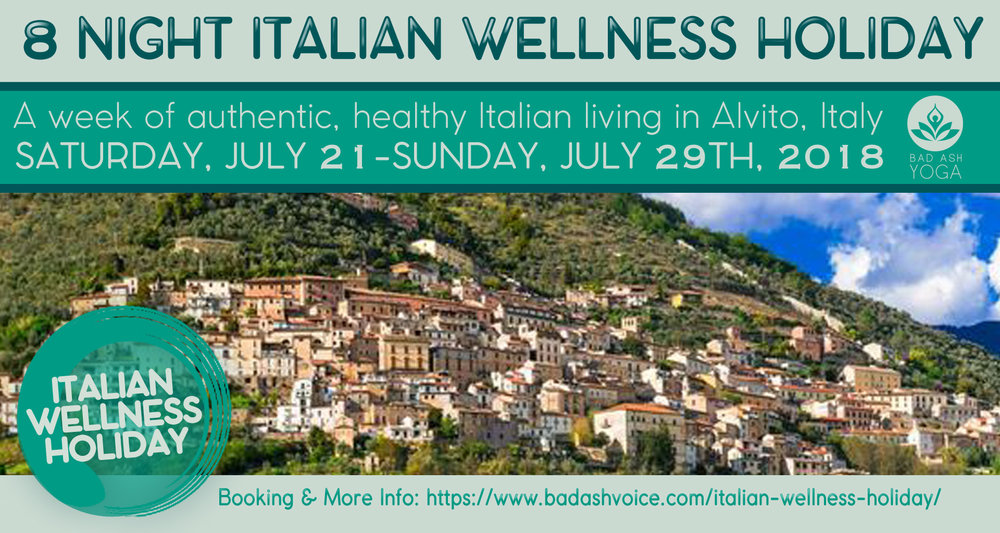 Italian Wellness Holiday Banner