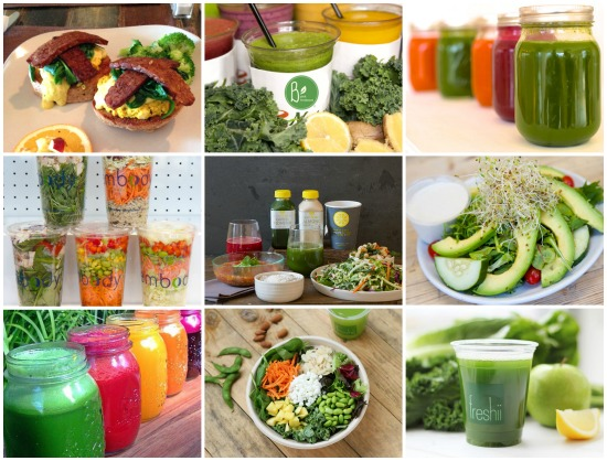 18 places to eat healthy in 2015 juice bars restaurants for Food bar in restaurant