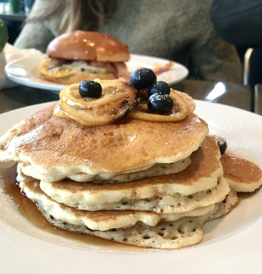 Pancakes from Driftwood Diner in Darien