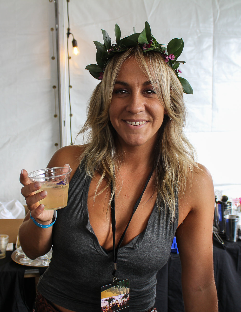 Kate Fiore, with clarified rum punch, from Match in South Norwalk, who won!.JPG