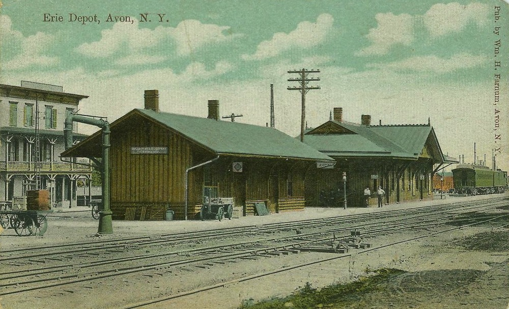 Erie Depot. Postcard. AP&HS collection.