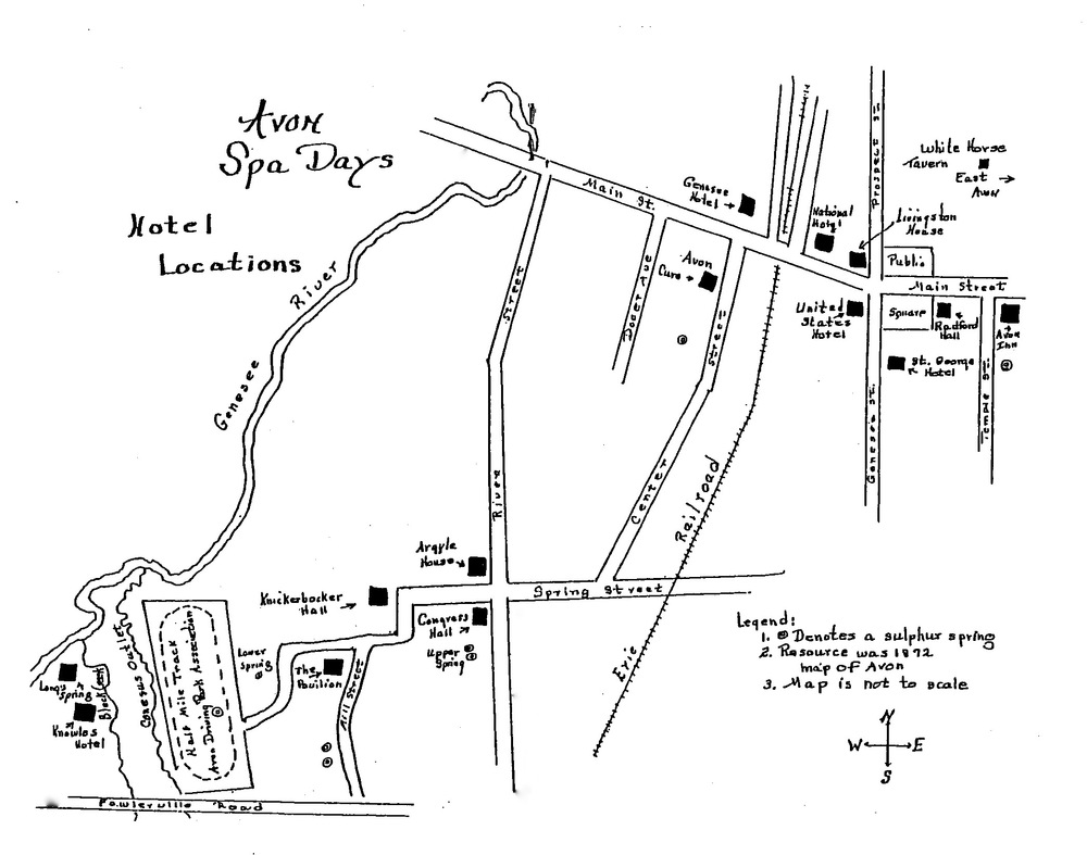 Spa Map. Source: Avon Town Historian
