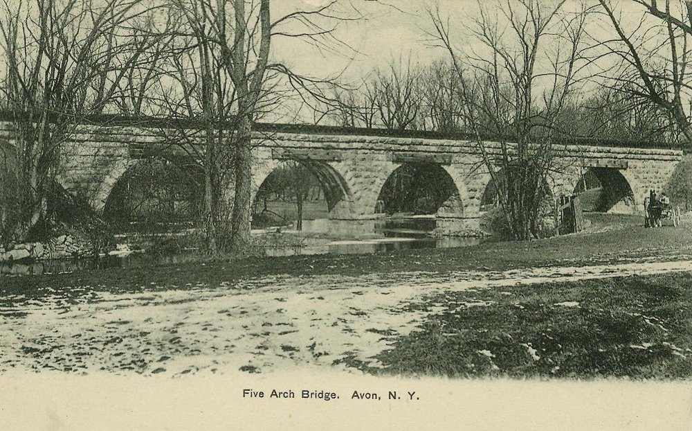 Five Arch Bridge built in 1854.  Postcard.  AP&HS collection