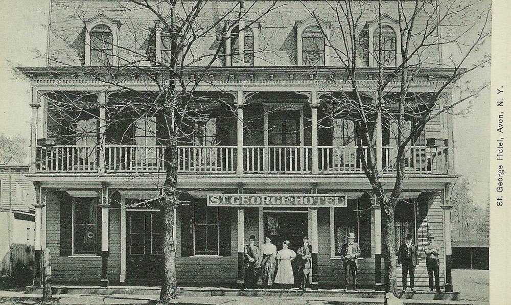 St. George Hotel, Genesee Street, Avon, where the Community Bank now stands.