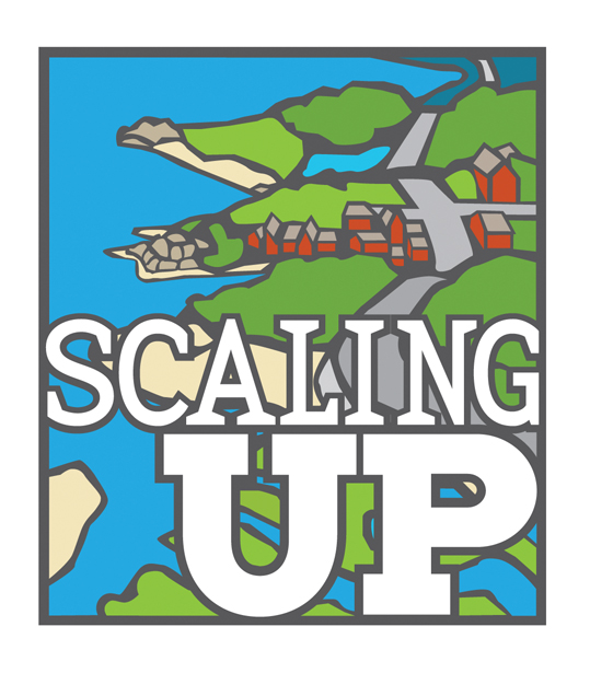 scaling up logo