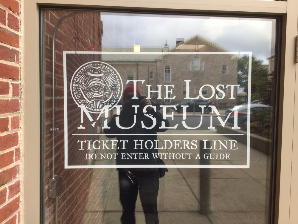 Front window of  The Lost Museum
