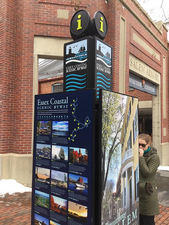 The Salem Kiosk just outside the visitor center