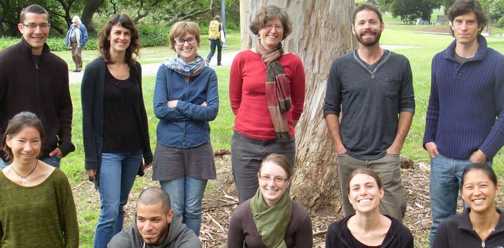 Feller lab - 2013 - Back; ryan, Georgeann, Anna, Marla, Aaron, Remi. Front: Alana, David, Lowry, Michal and Melissa