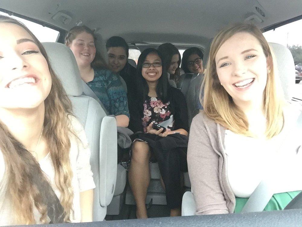One of the many selfies taken in the van!