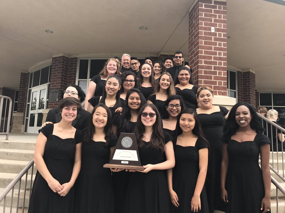Top Choir at UIL Concert and Sight Reading 2017
