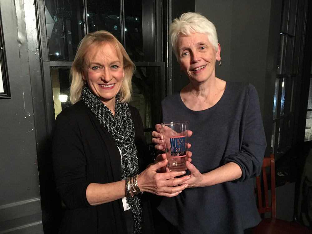 Robin Renn and Cindy Heffron were the winners of our March Story Slam.