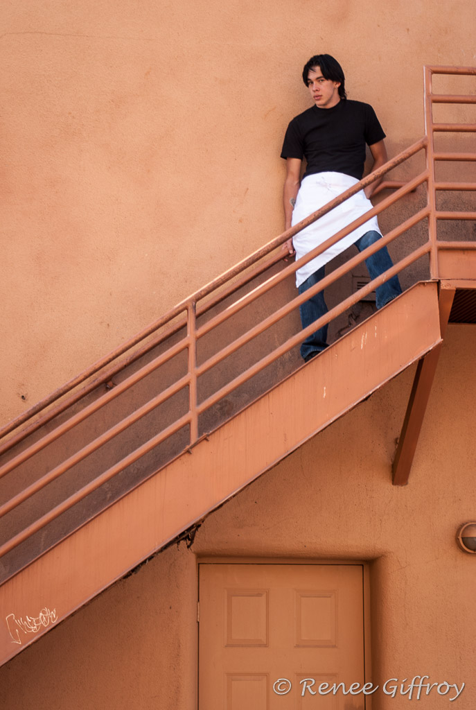 Santa Fe waiter on stairs with watermark-1.jpg