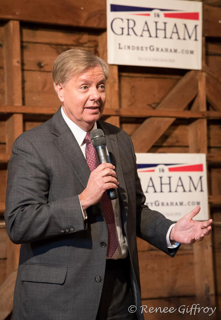 Lindsey Graham in Rye, NH