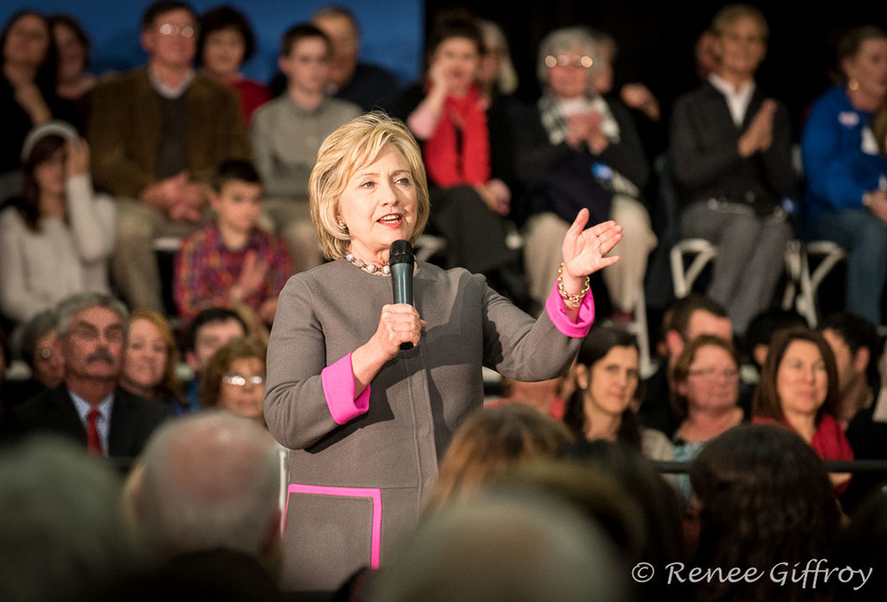 Hillary Clinton in Dover, NH