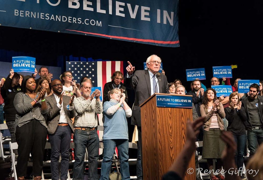 Bernie Sanders in Hampton, NH