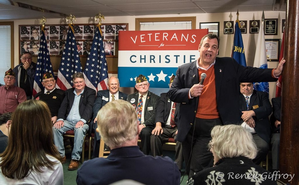 Chris Christie in Pelham, NH