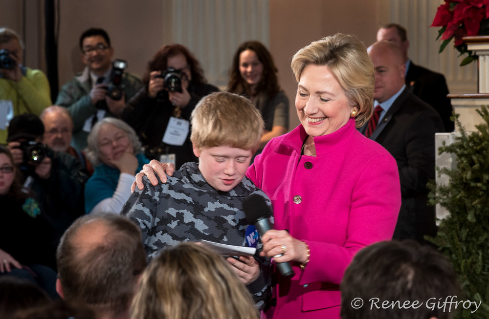 Hillary Clinton in Portsmouth, NH