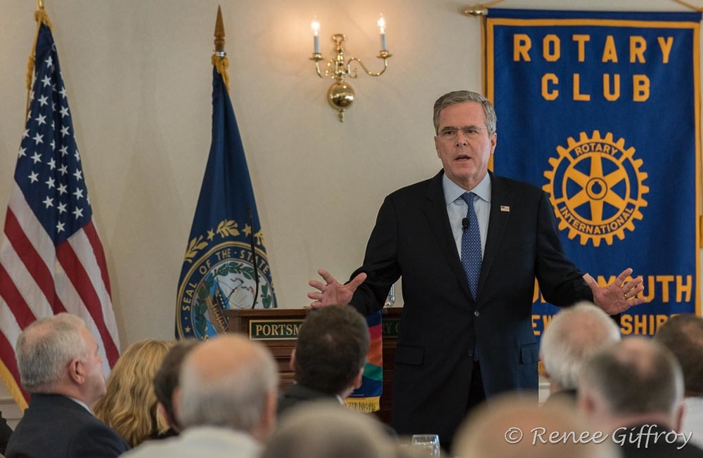 Jeb Bush in Greenland, NH