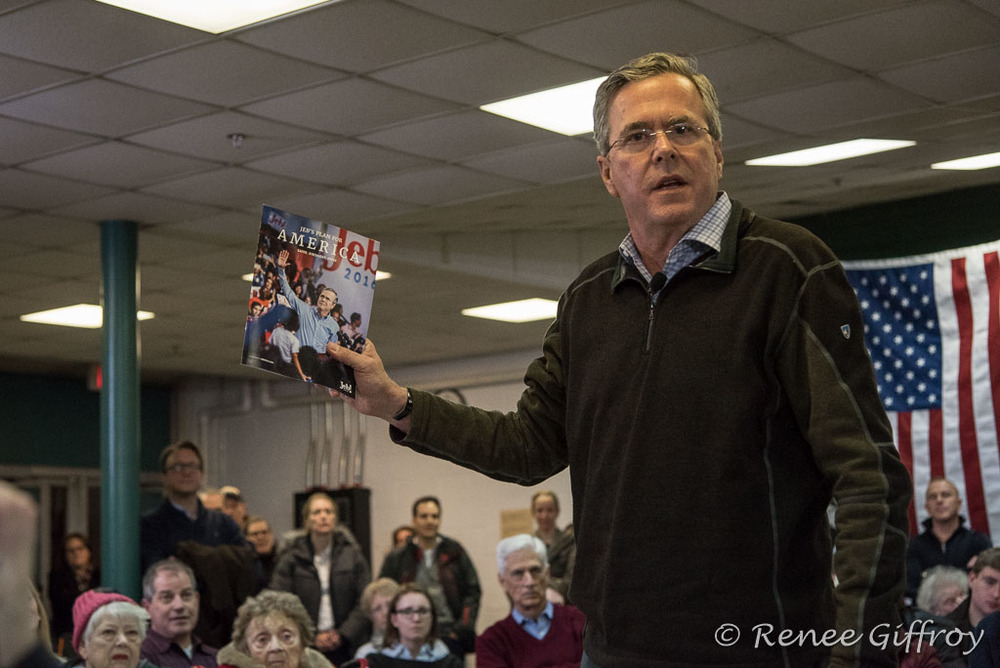 Jeb Bush in Hampton Falls, NH