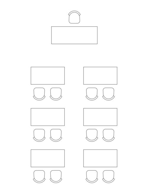 Bordoppsett konferanse: Klasserom