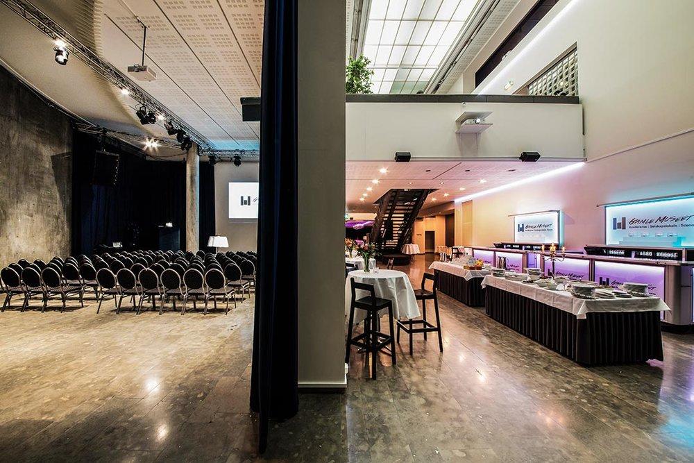Festlokale i Oslo: Oversiktsbilde med mingleområdet og Big-Time-salen.