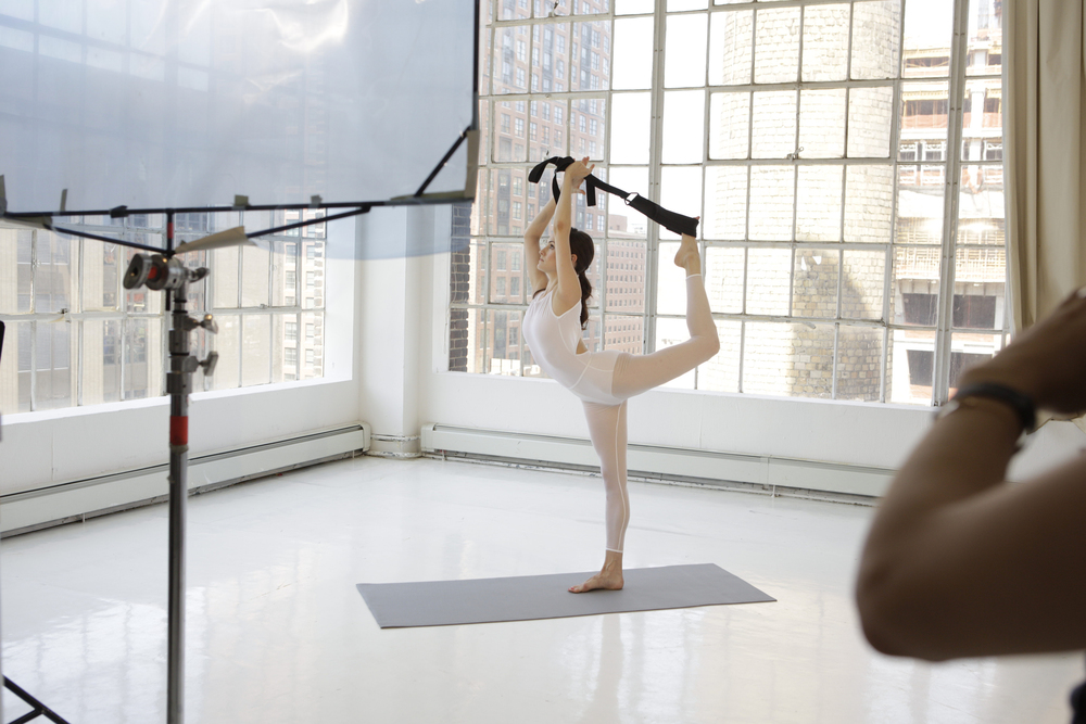 Feel free in your Dancer's Pose:   using the Flexistretcher at any level of the Dancers pose allows one to stay in alignment and work the correct muscles so that you are strengthening your body within the position!
