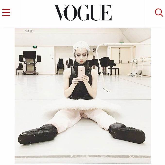 Check out the beautiful  @balletrusse  , Principal Dancer with both the San Francisco Ballet and American Ballet Theatre, and her feature in Vogue talking about her killer Ballerina Style. ✨✨ #OdileVest