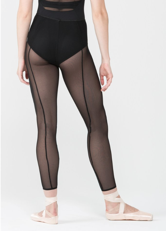Mesh Tight With Back Seam