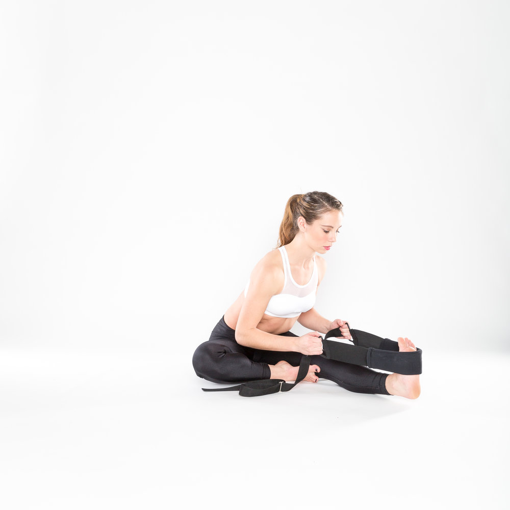 2.) SEATED ONE-LEGGED HAMSTRING STRETCH