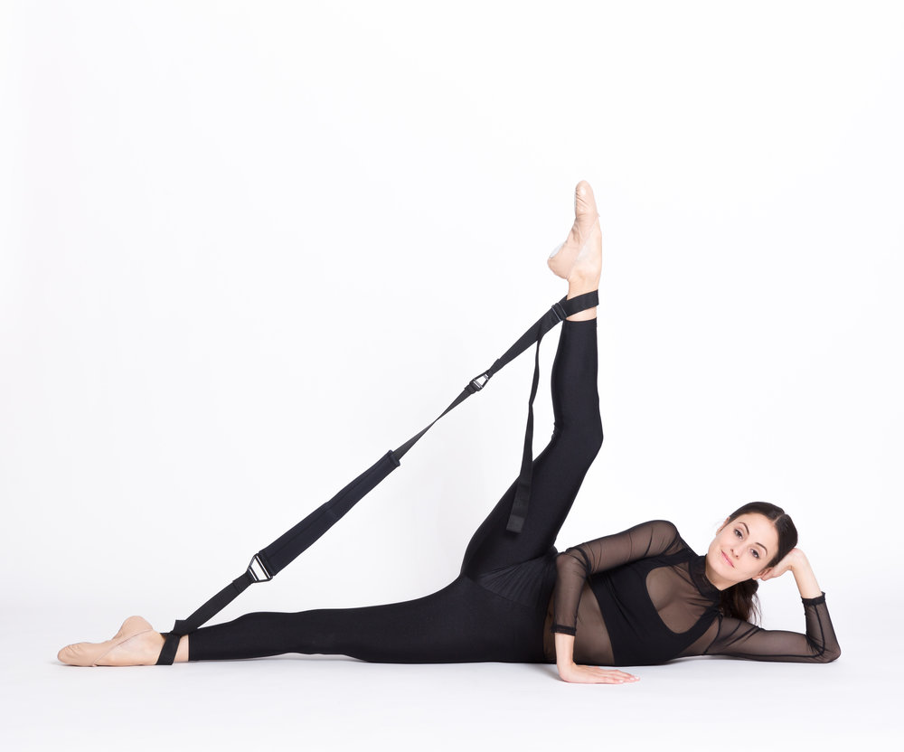 Melanie Hamrick of ABT doing Flexistretcher side kicks