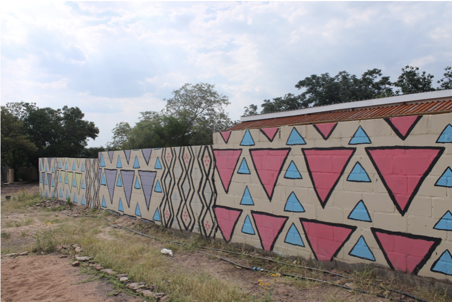 Botswana Pattern Mural painted by Saraya Lyons