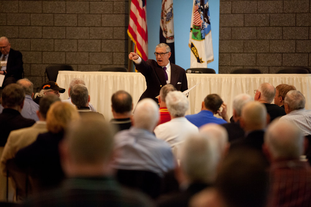 Lt. Gen. Frank Libutti, USMC (Ret.), Citadel Class of 1966, addressing 2016 Conference at VMI: Anatomy of a War Experience