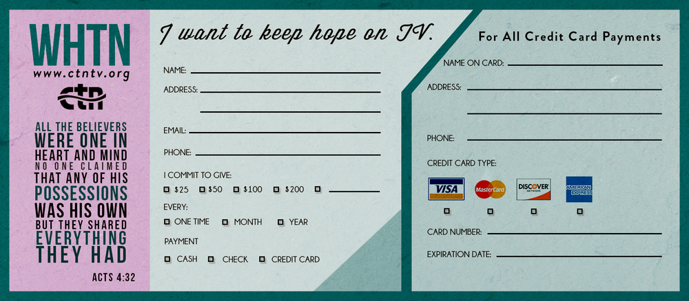 pledge card design