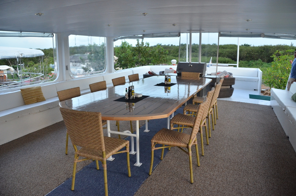 Dining area aboard Georgiana