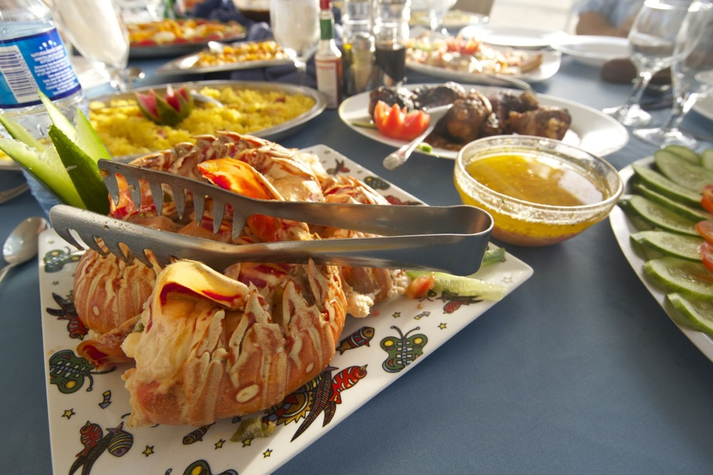 Seafood is always plentiful aboard AF1