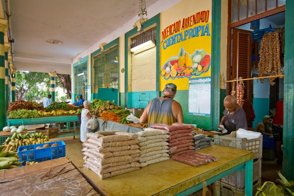 Local market in Havana, Cuba