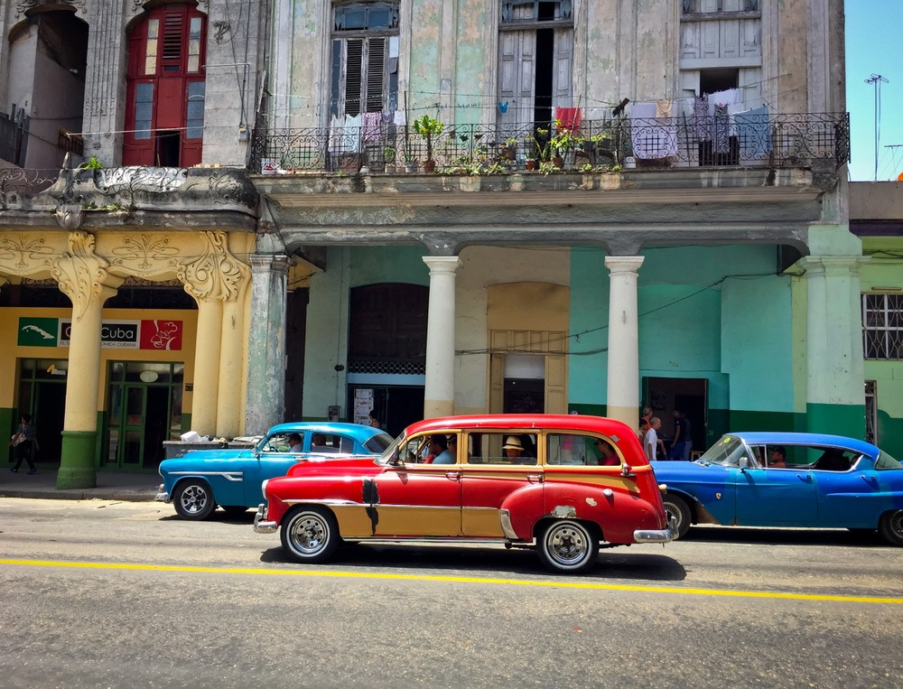 Old American cars are often taxis, Havana, Cuba