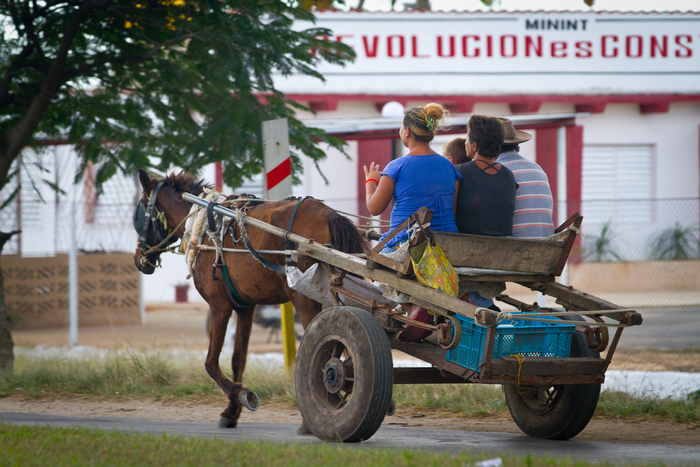 Locals using local transportation, Ciego de Avila, Cuba