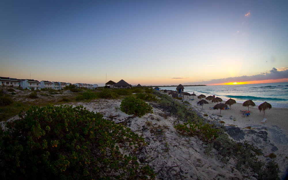 Sunrise at Sol Club beach, Cayo Largo, Cuba