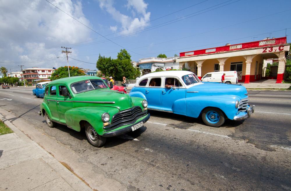 Taxis prowling Havana, Cuba