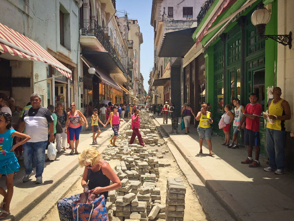 Construction is everywhere, Old Havana, Cuba