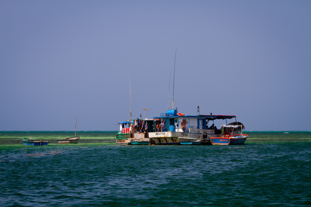 Lodging for Cuban lobstermen, Cayo Cruz, Cuba