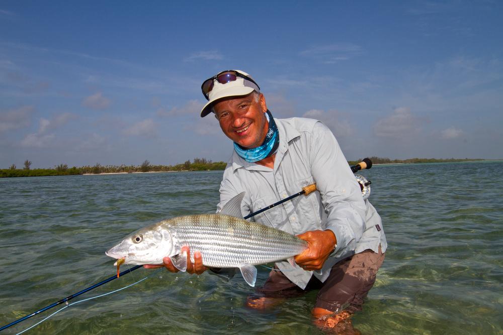Jon Covich posing with a really nice Cayo Cruz Bonefish, Cuba